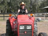 14Janet on the tractor